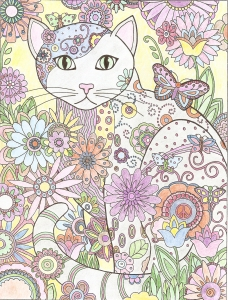 Cat Coloring by Linda A. Mohr